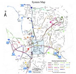 chapel hill transit system map