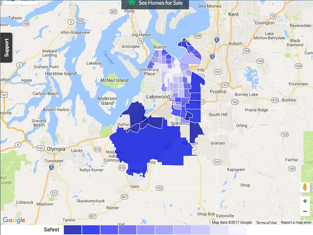 Tacoma Crime Map
