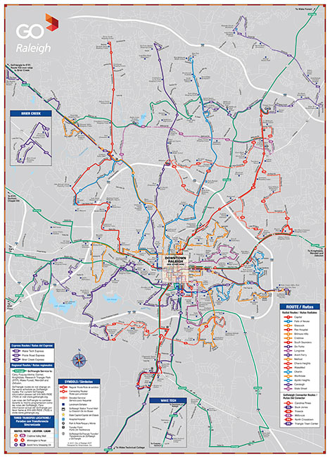 Raleigh Bus Map