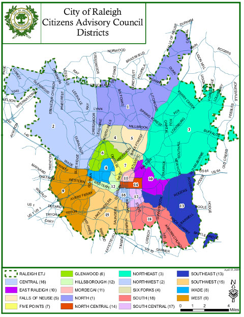 Raleigh Neighborhood Map