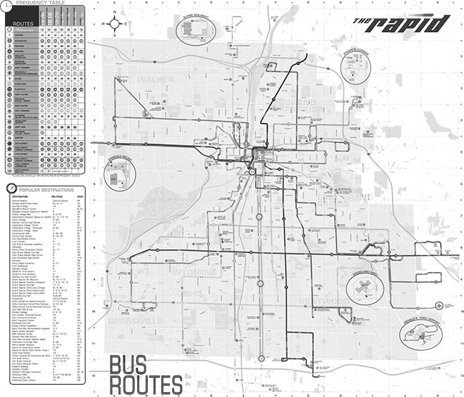 Grand Rapids Bus Map