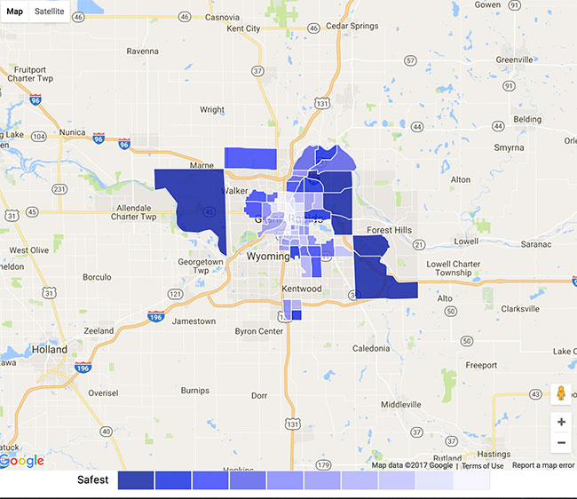Grand Rapids Crime Map