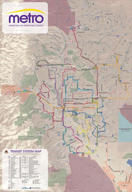 Colorado Springs Bus Map