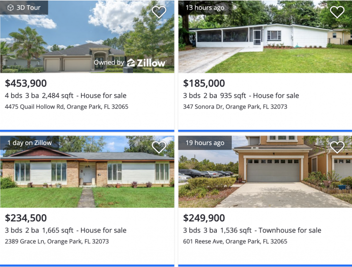 Jacksonville, FL Orange Park Home Values Zillow 2021