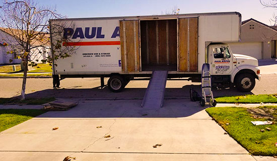 moving company shuttle truck