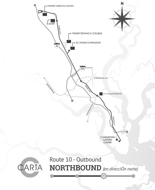 Charleston Bus Map