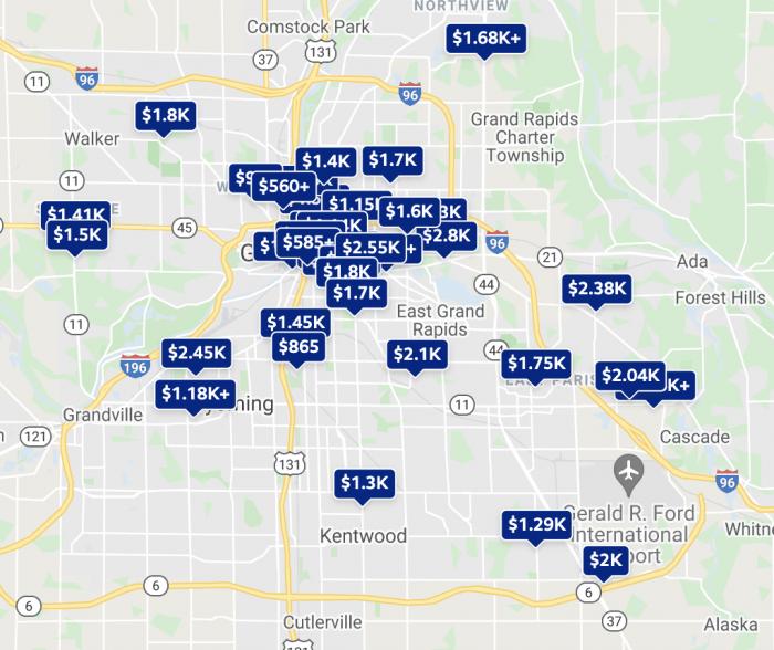 Grand Rapids MI Rental Map Trulia