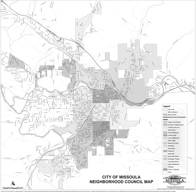 Missoula Neighborhood Map