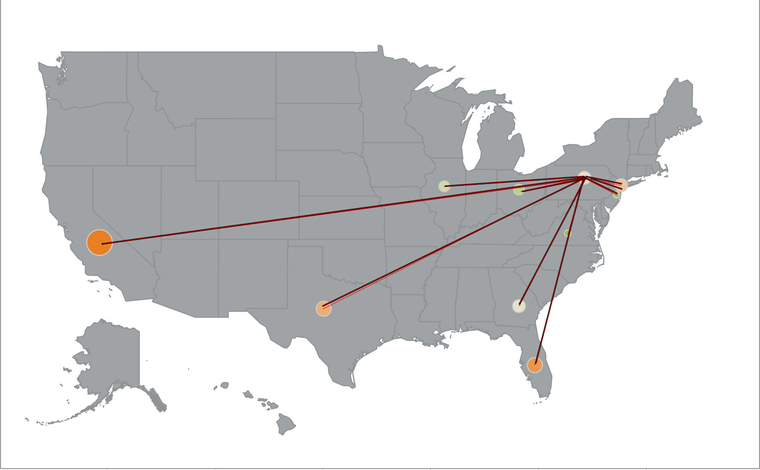 Philadelphia Migration - States