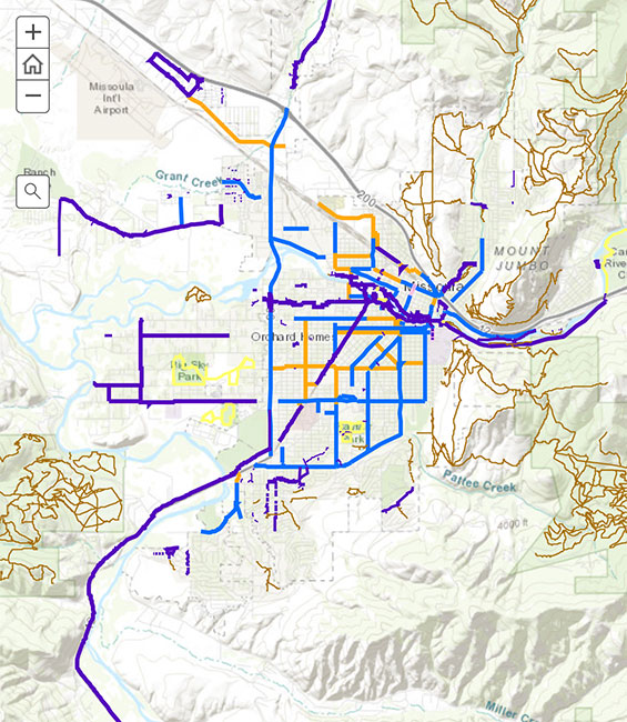 Missoula Bike Map