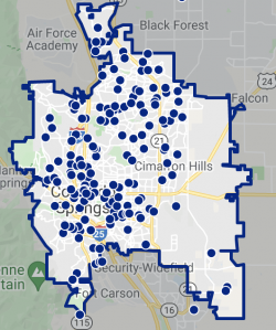 Colorado Springs Rental Hotspot Map 2021