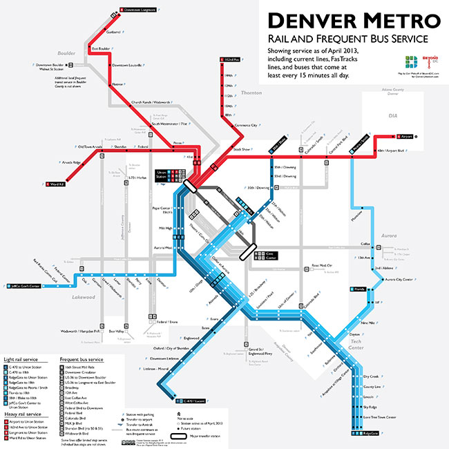 Denver Bus Map