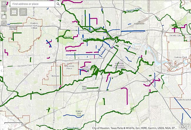 Houston Bike Map