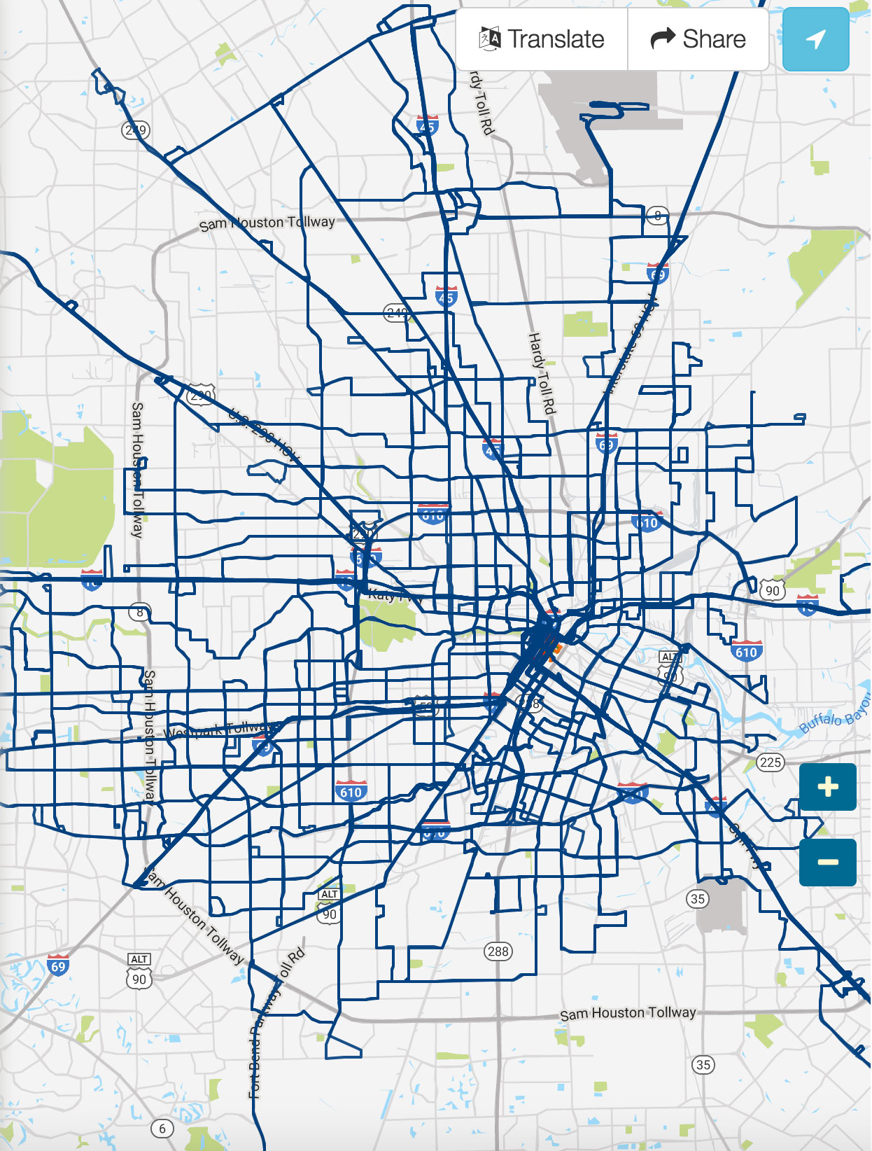 Houston Bus Map