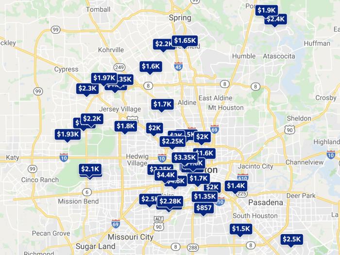 Houston TX Rental Map Trulia 2021