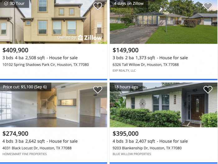 Houston, TX Spring Branch Zillow Home Prices 2021