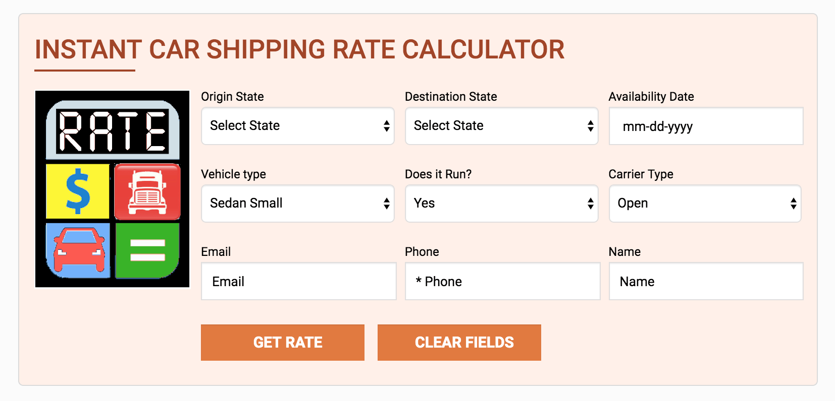 AmeriFreight's Rate Calculator
