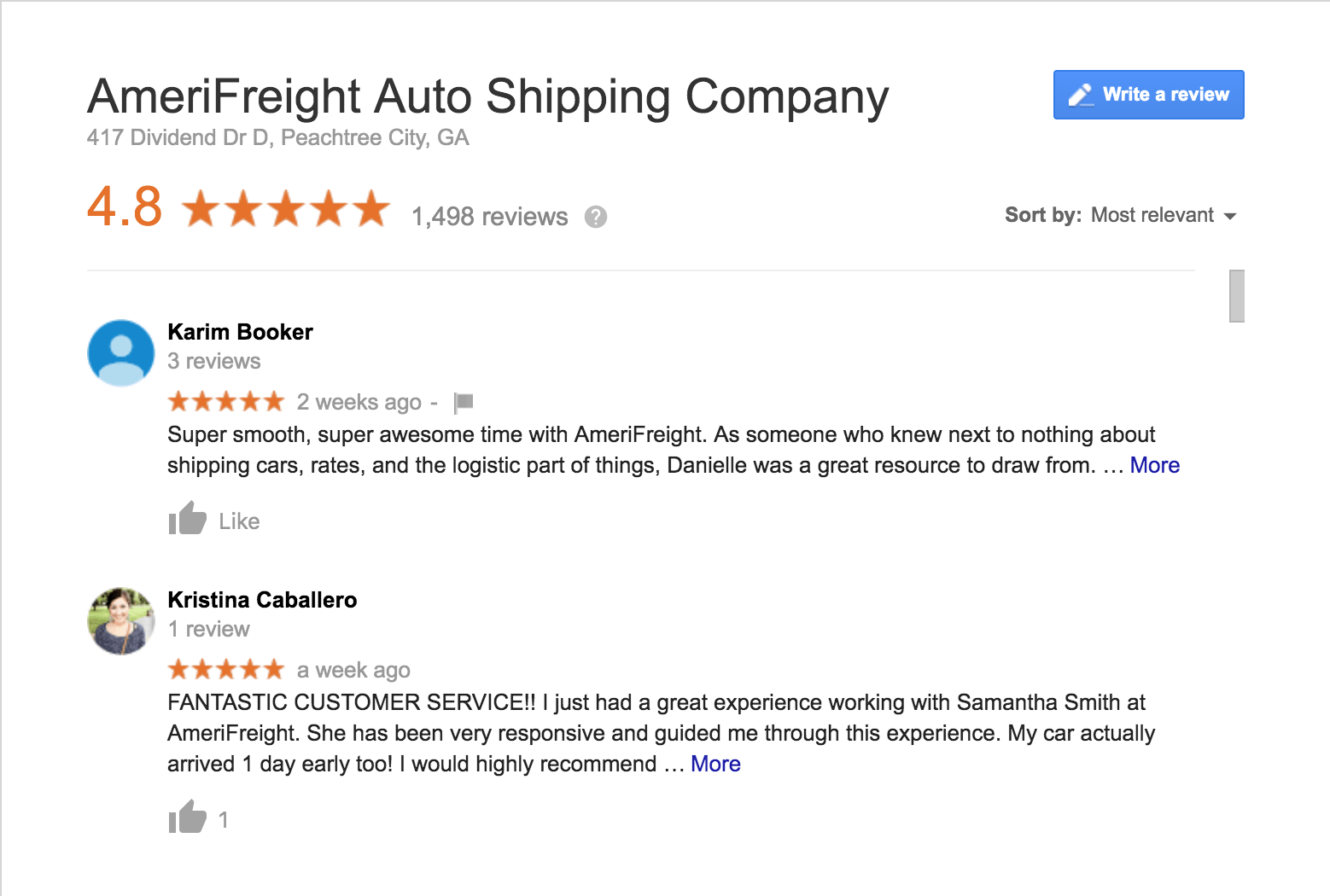 AmeriFreight Online Reputation and Reviews