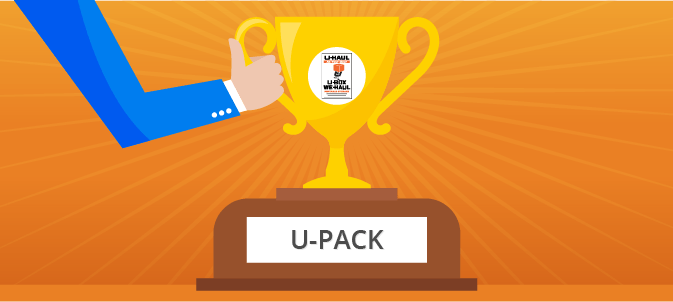 We ranked U-Pack the #1 container moving company