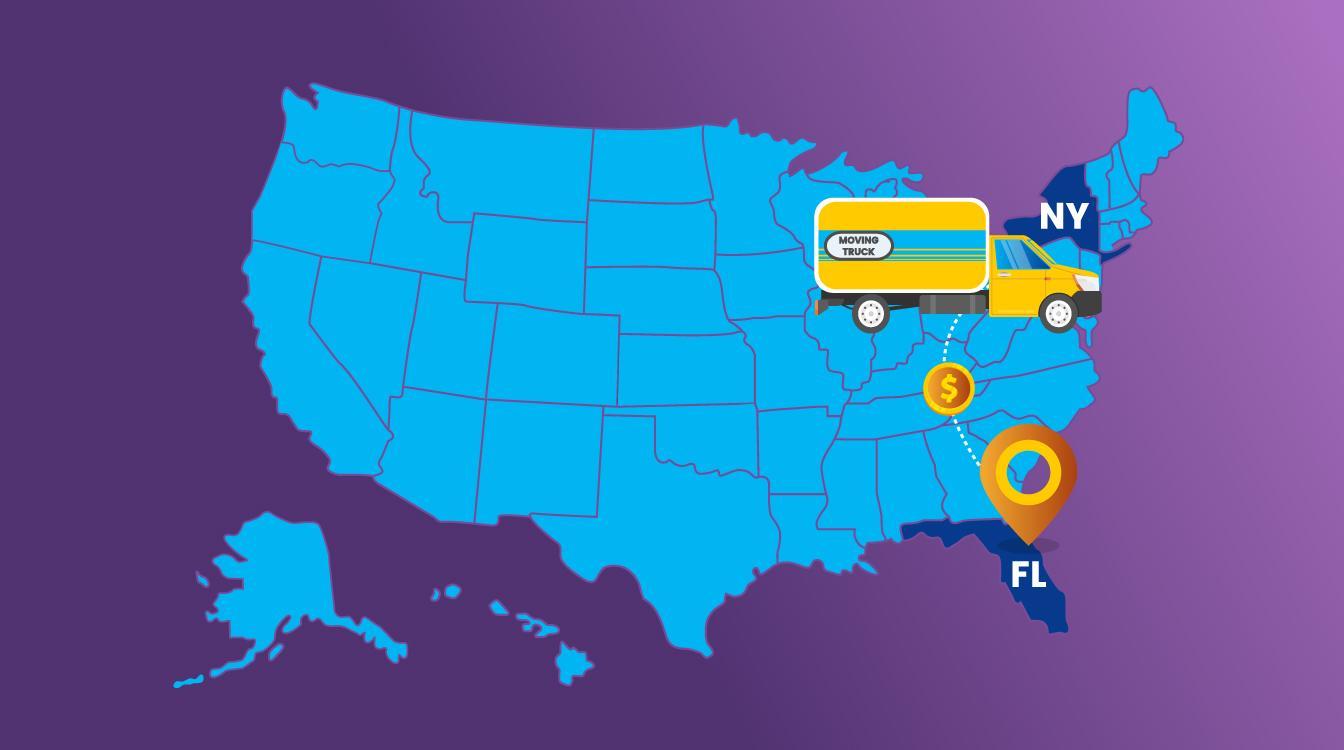 New York to Florida Moving Cost 2020  | moveBuddha